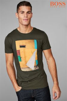 BOSS Khaki Turbulent T-Shirt