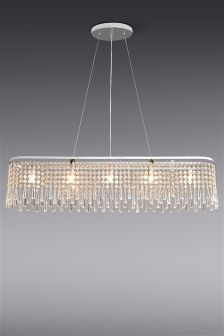 Lucy 5 Light Large Beaded Linear Pendant