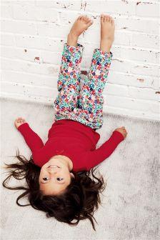 Floral Woven Bottom Pyjamas (9mths-8yrs)