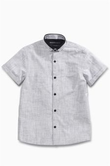 Short Sleeve Cross Hatch Shirt (3-16yrs)