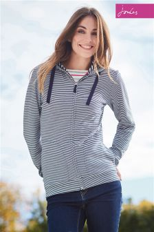 Joules Beachside Navy Stripe Hoody