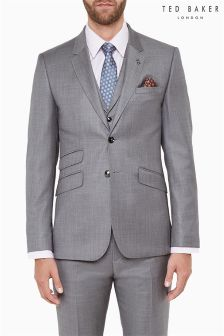 Ted Baker Grey Sharkskin Suit Jacket