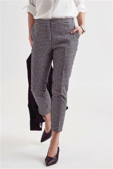 Gingham Taper Trousers