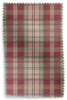 Tweedy Check Morcott Red Fabric Roll