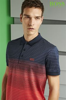 Boss Green Striped Paddy Poloshirt