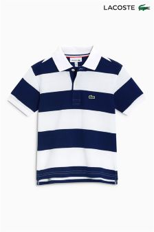 Lacoste® Navy/White Stripe Polo