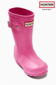 Hunter Original Pink Kids Wellies