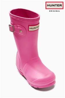 Pink Hunter Original Kids Wellies