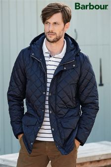 Barbour® Navy Crowl Hooded Jacket