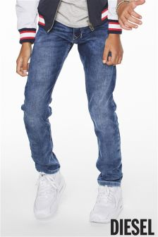Diesel® Medium Blue Wash Tepphar Jog Jean