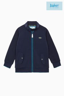 Ted Baker Navy Pique Harrington Jacket