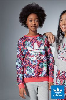 adidas Originals Rose Printed Crew Sweater