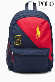 Ralph Lauren Navy/Red Stripe Backpack