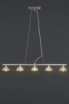 Siena 5 Light Chrome Pendant Bar