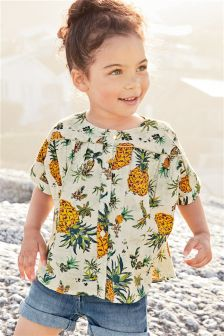 Pineapple Print Shirt (3mths-6yrs)