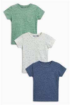 Short Sleeve Neppy T-Shirts Three Pack (3mths-6yrs)