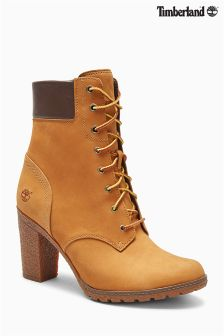 Timberland® Tan Glancy Heeled Lace Up Boot