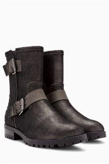 Buckle Biker Boots