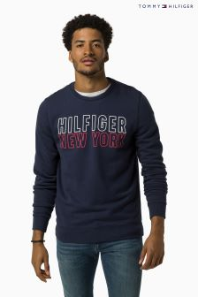 Hilfiger Denim Navy Graphic Crew Neck Jumper