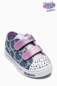 Skechers® Twinkle Toes Denim Heart Sparkle Glitz