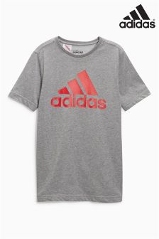 adidas Essential Grey Logo T-Shirt