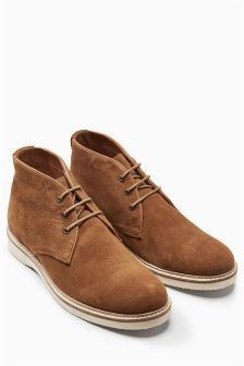 Suede Wedge Chukka Boot