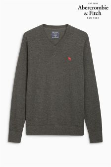 Abercrombie & Fitch Grey V-Neck Knit