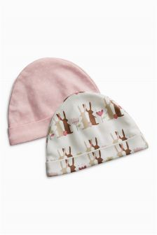 Bunny Hats Two Pack (0-18mths)