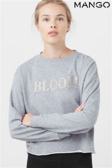 Mango Grey Bloom Sweat Top
