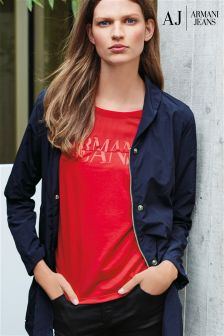 Armani Jeans Red Logo T-Shirt