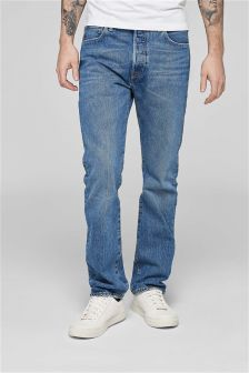 Levi's® 501 Straight Fit Jean in Balboa Strong Wash