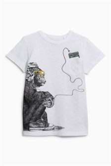 Monkey Headphones T-Shirt (3-16yrs)