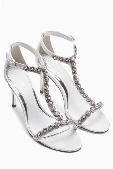 Ivory Jewel T-Bar Sandals