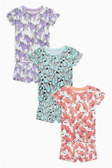 Animals Short Pyjamas Three Pack (9mths-8yrs)