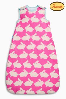 Gro Bag Pink Anorak Kissing Rabbits 1.0 Tog