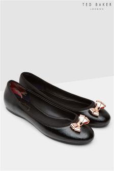 Ted Baker Black Patent Bow Pump