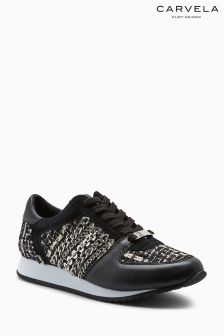 Carvela Black Lit Tweed Sneaker