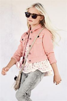 Pink Denim Western Jacket (3-16yrs)