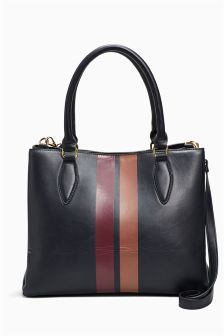 Formal Stripe Tote Bag
