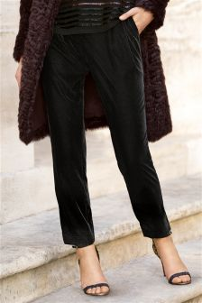 Velvet Taper Trousers