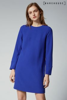 Warehouse Cobalt Blue Shift Dress