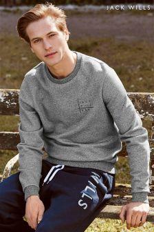 Jack Wills Hatton Grey Crew Neck Sweater
