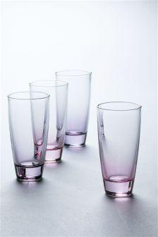 Set Of 4 Pastel Tumblers