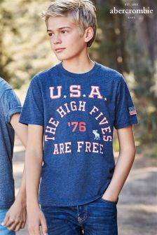 Abercrombie & Fitch Blue Tee