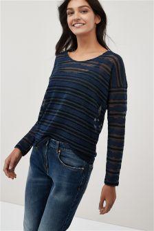 Knit Look Stripe Top