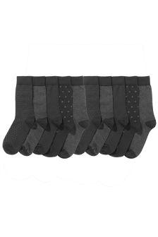 Navy Formal Mix Socks Ten Pack