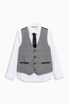 Check Waistcoat Set (12mths-16yrs)