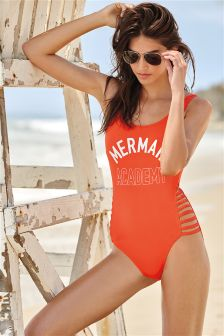 Mermaid Slogan Swimsuit