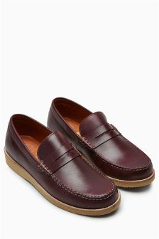 Leather Saddle Loafer
