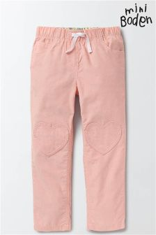 Boden Chalky Pink Heart Patch Trouser